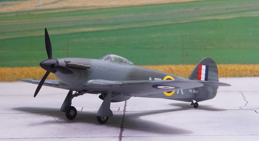 In 1945 the MK XIVs were offered for sale to foreign countries but no buyers were found and all aircraft were scrapped in early 1946. & Hawker Hurricane Mk XIV